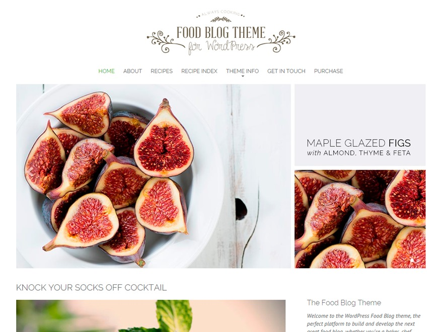 Food Blog Pro food WordPress theme