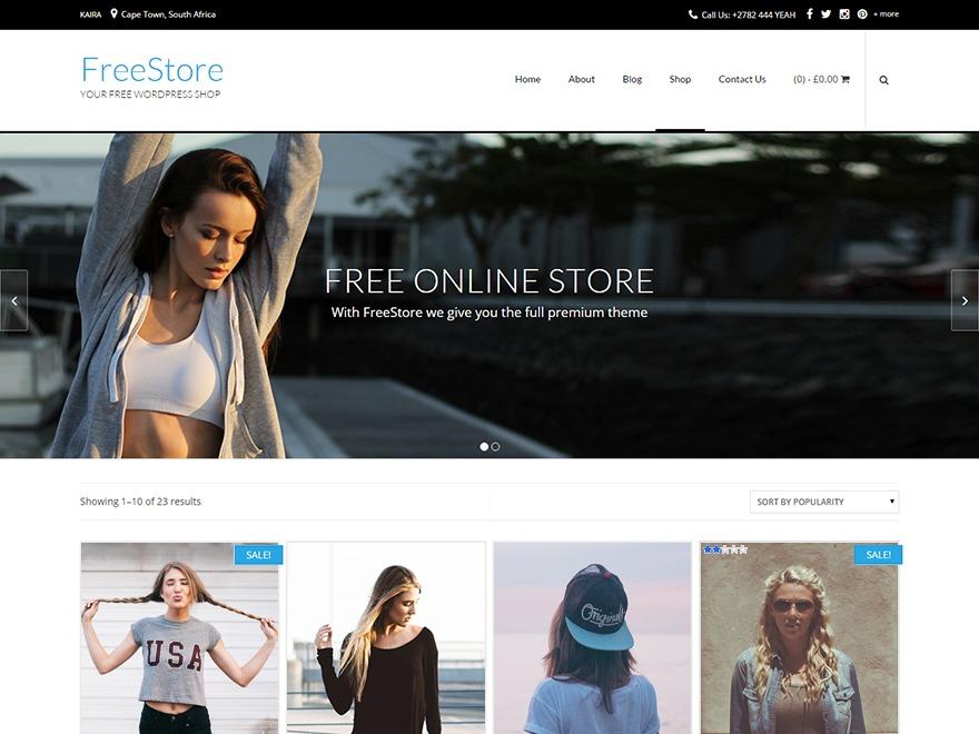 FreeStore WordPress ecommerce theme