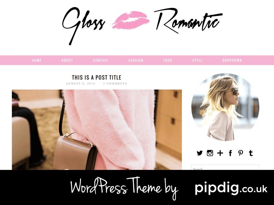 Gloss Romantic (pipdig) best WordPress template