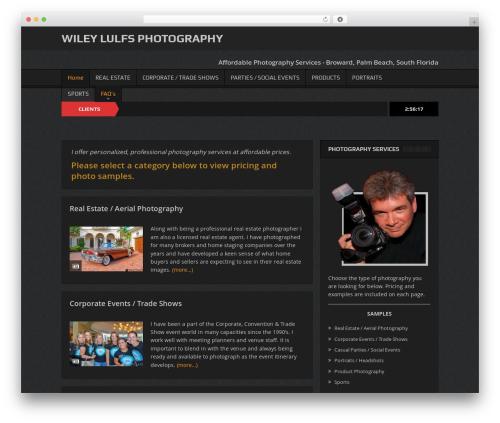 Goodnews Child WordPress photo theme - wileyphotos.com