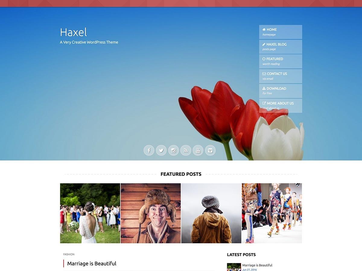Haxel WordPress free download