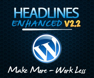 Headlines Enhanced WordPress website template