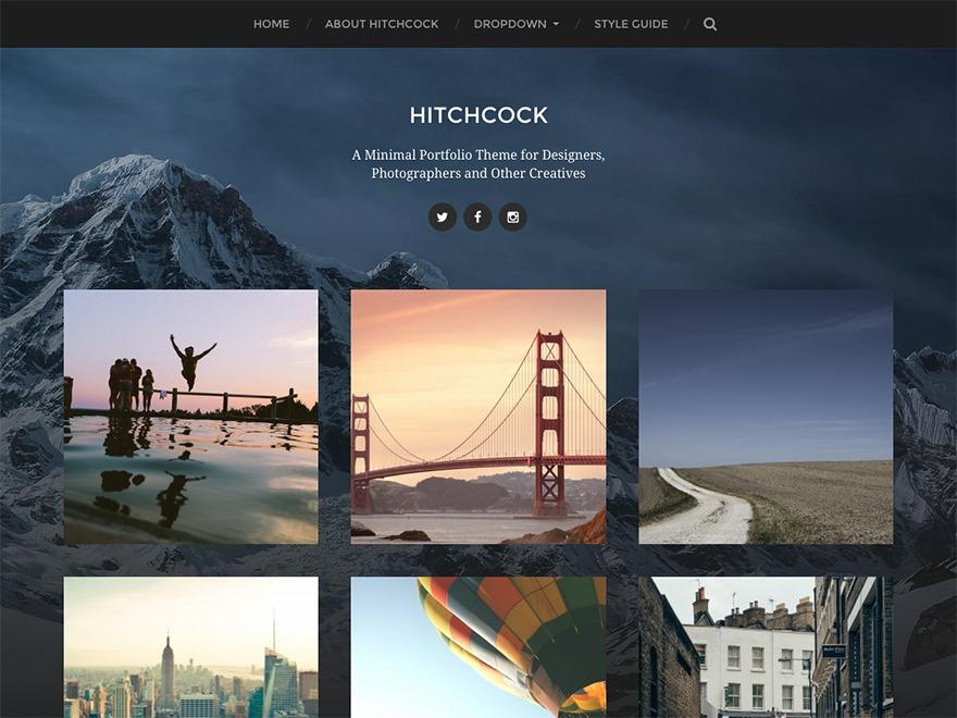 Hitchcock Child theme WordPress portfolio