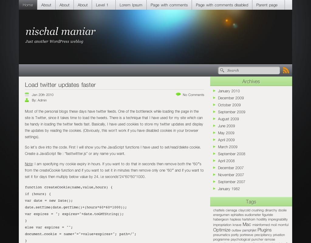 iCandy template WordPress