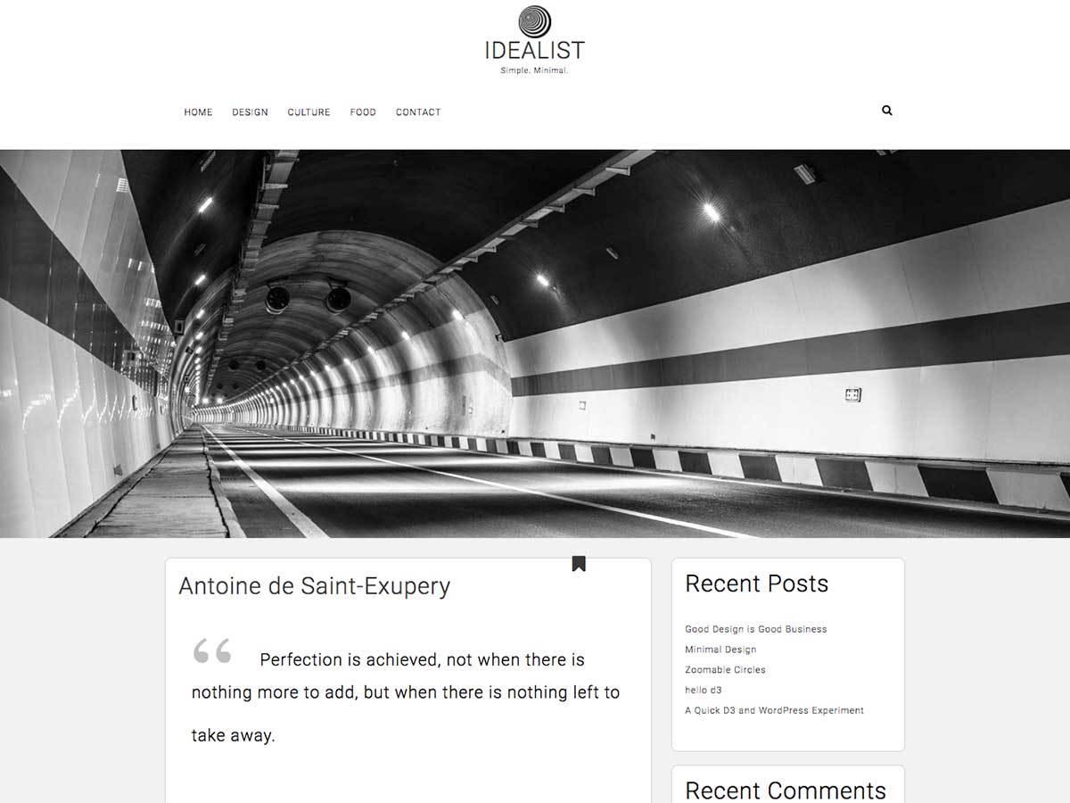 Idealist WordPress template free download