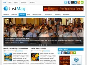 JustMag newspaper WordPress theme
