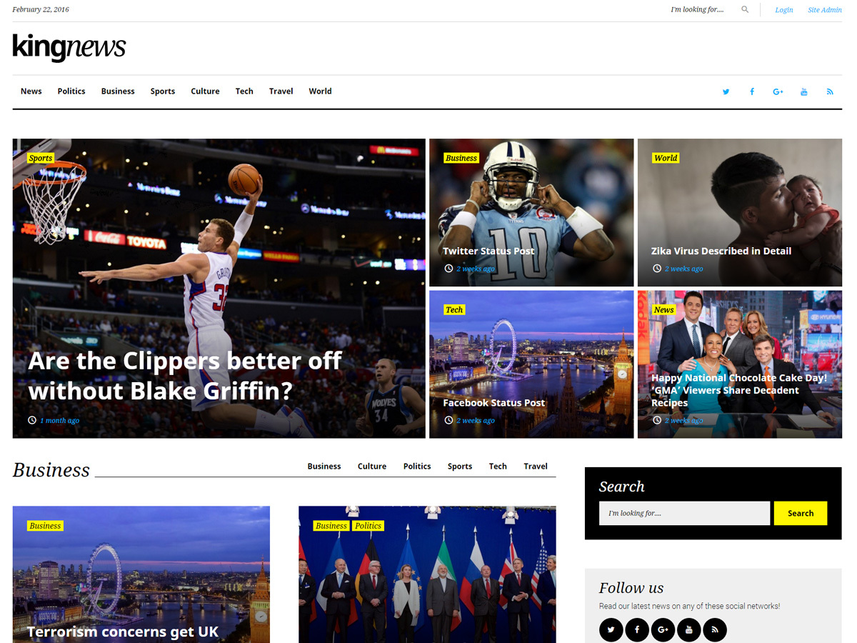 King News WordPress news template