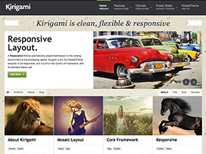 Kirigami WordPress template