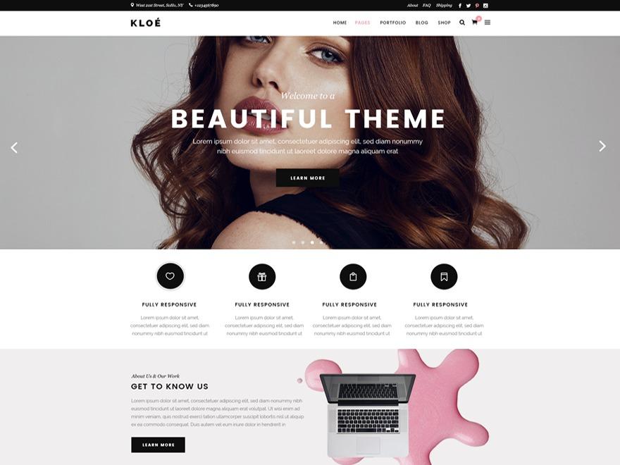 Kloe fashion WordPress theme