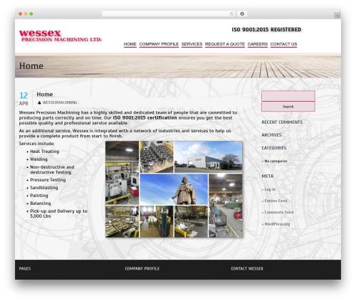 Laurels template WordPress free - wessexmachining.com
