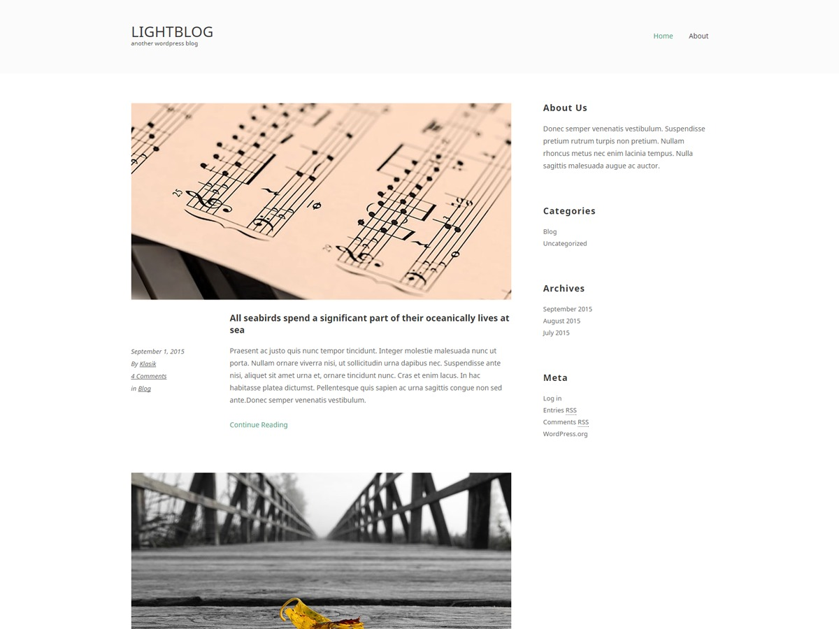 LightBlogKT free WP theme