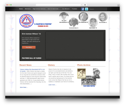 Link free WP theme - waynecountysportshof.com