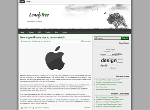 Lonelytree best WordPress template