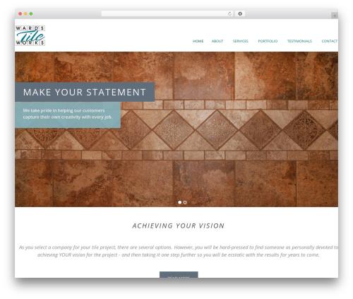 MAMMOTH-WP WordPress page template - wardstileworks.com