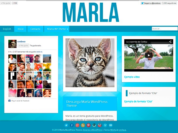 Marla template WordPress