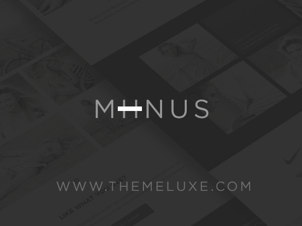 Miinus WordPress theme