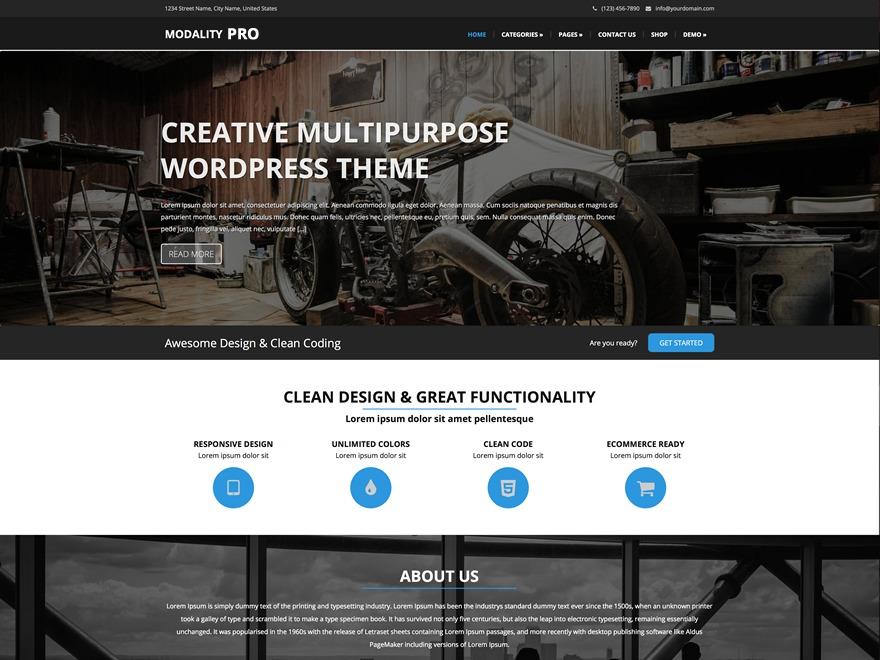 Modality Pro WordPress store theme