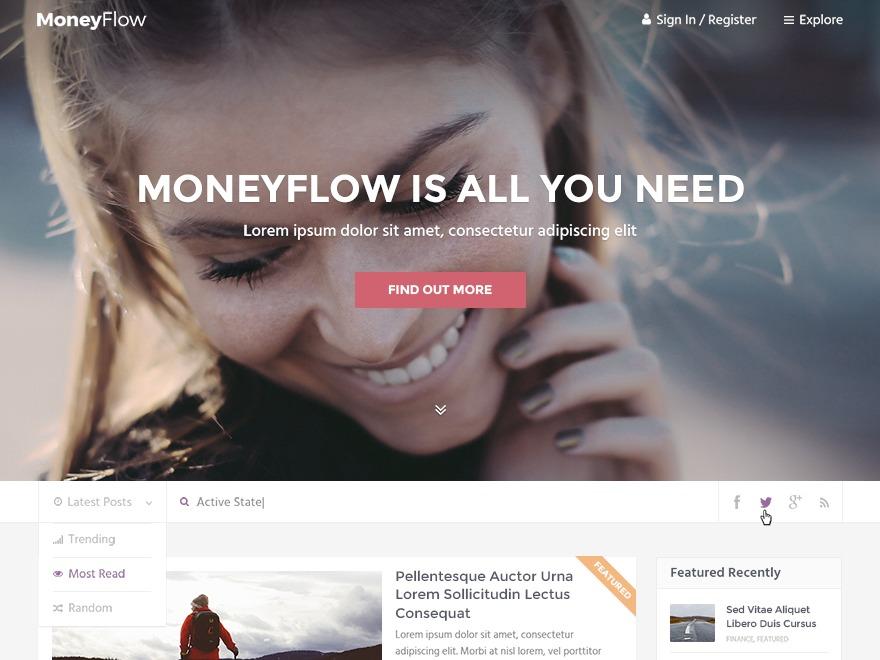 MoneyFlow by MyThemeShop WordPress shop theme