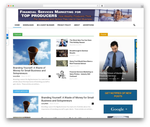 Newspaper newspaper WordPress theme - wealthyproducer.com
