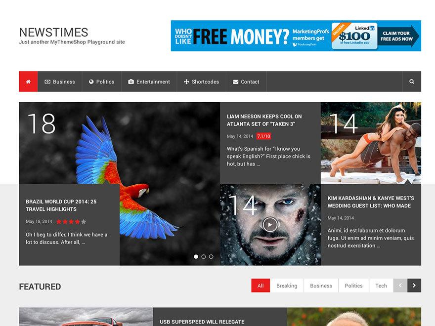 NewsTimes by MyThemeShop best WooCommerce theme