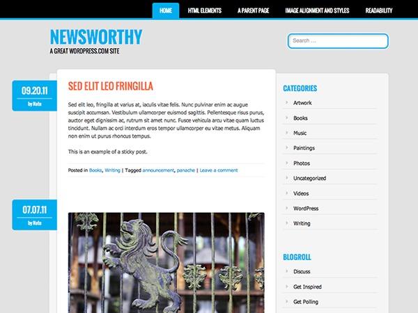 Newsworthy – WordPress.com WordPress news template