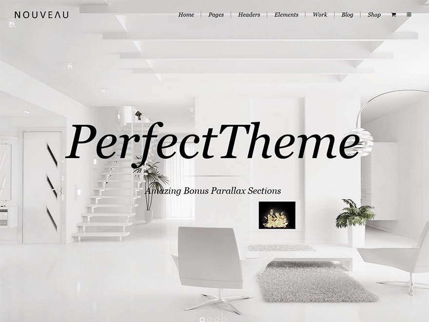 Nouveau WordPress theme design