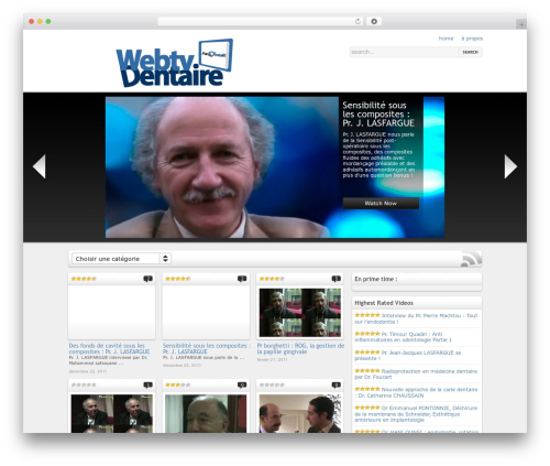 On Demand WordPress theme - webtv.pandentaire.com