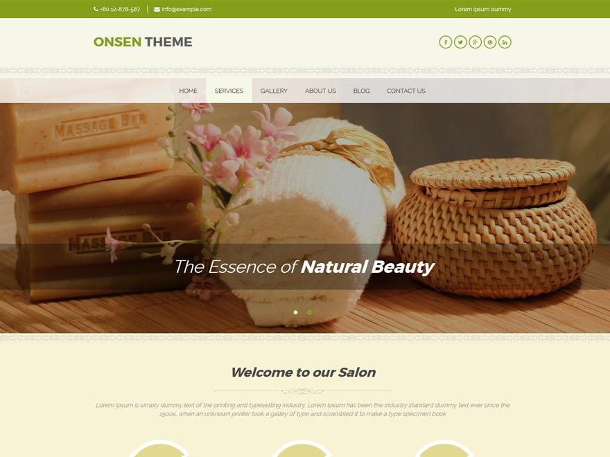 Onsen free WP theme