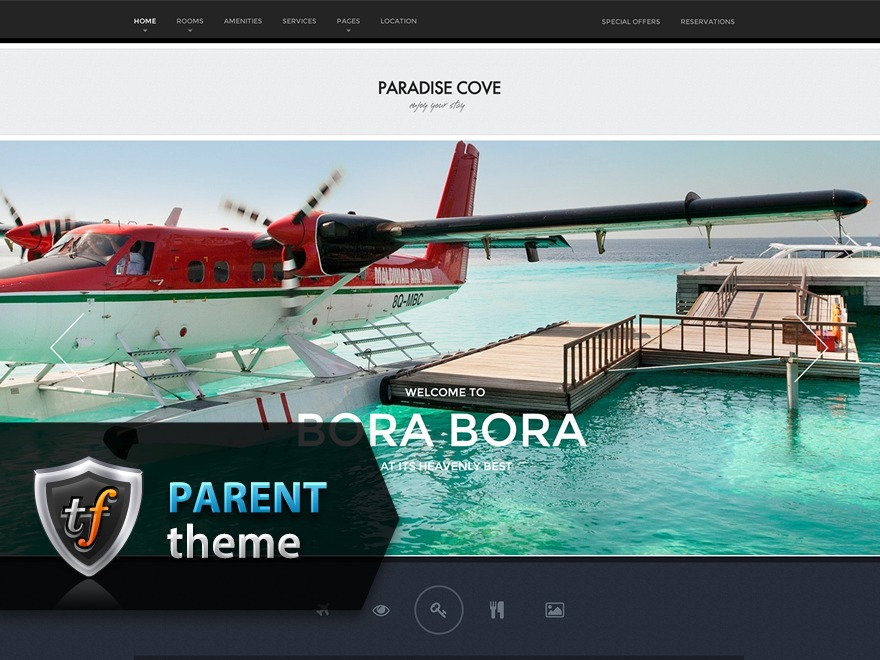 ParadiseCove Parent WordPress page template