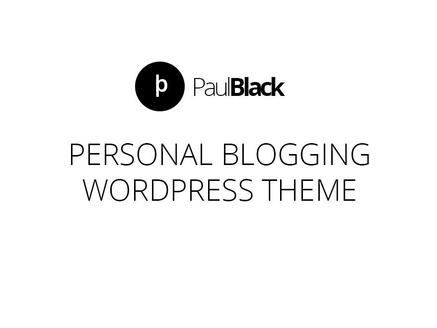 PaulBlack WordPress magazine theme