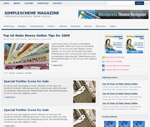 pinkSimpleScheme Magazine WordPress news theme