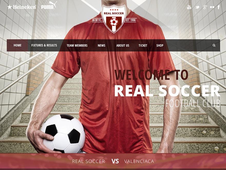 Real Soccer top WordPress theme