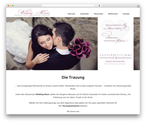 Rectangulum WordPress wedding theme - wedding-music.at