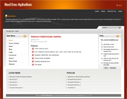 Red Evo Aphelion WordPress theme