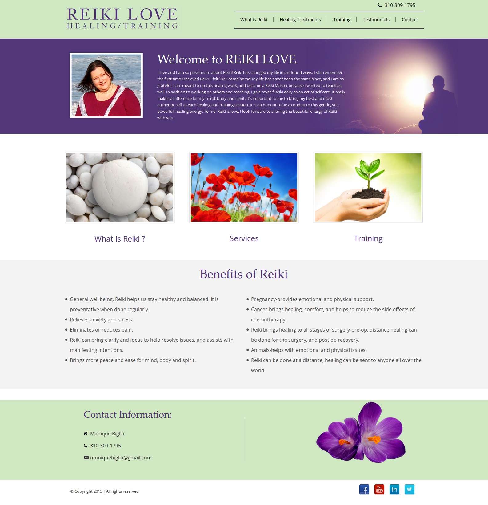 Reiki template WordPress free
