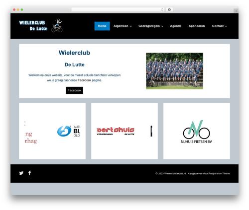 Responsive WordPress theme - wielerclubdelutte.nl