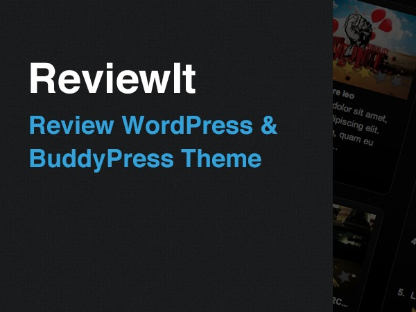 ReviewIt WordPress page template