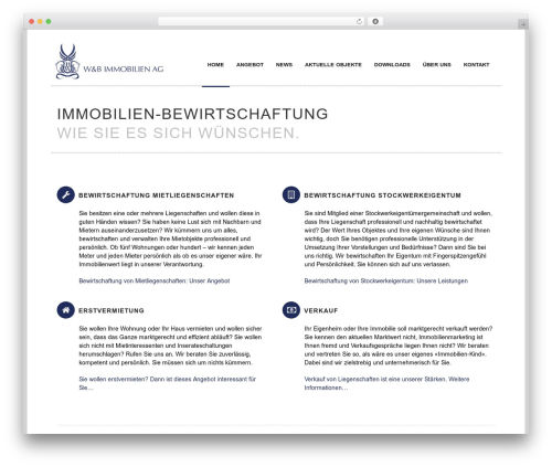 Rework WordPress template - wb-immobilien-ag.ch