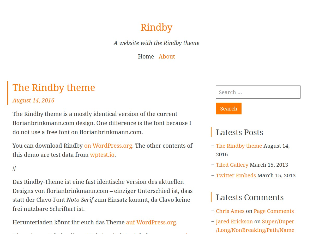 Rindby WordPress theme free download