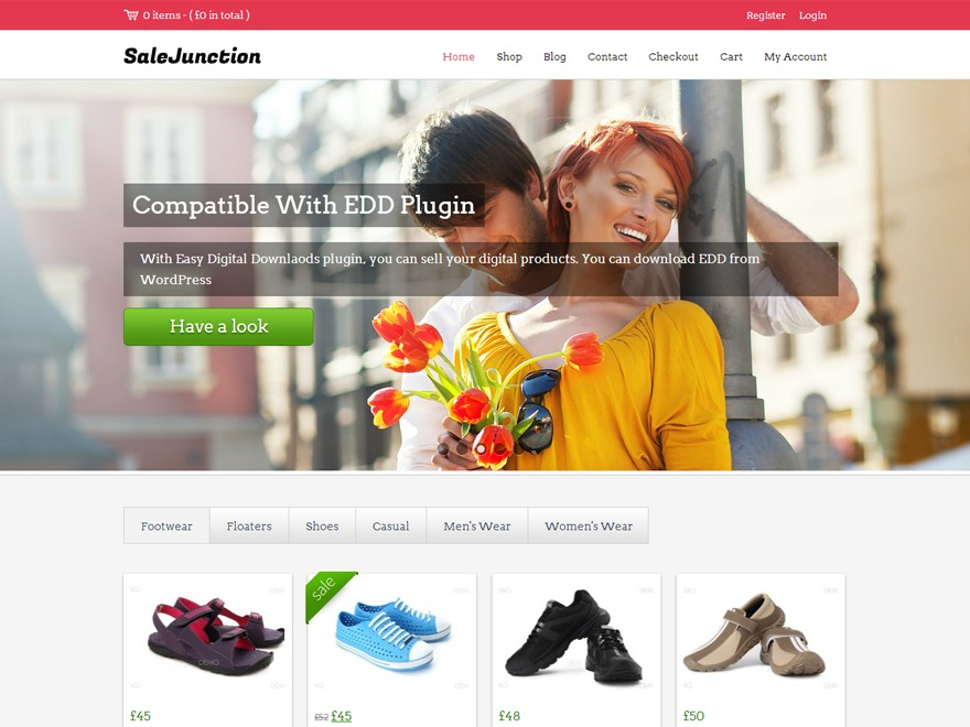 SaleJunction Pro WordPress ecommerce template