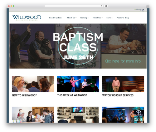 Satellite7 WordPress theme design - wildwoodchurch.org