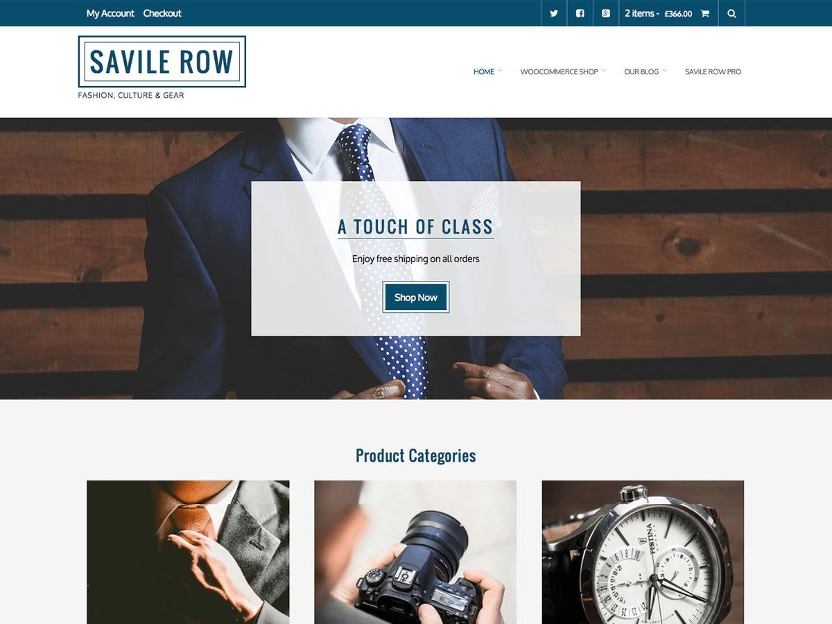 Savile Row WordPress ecommerce theme