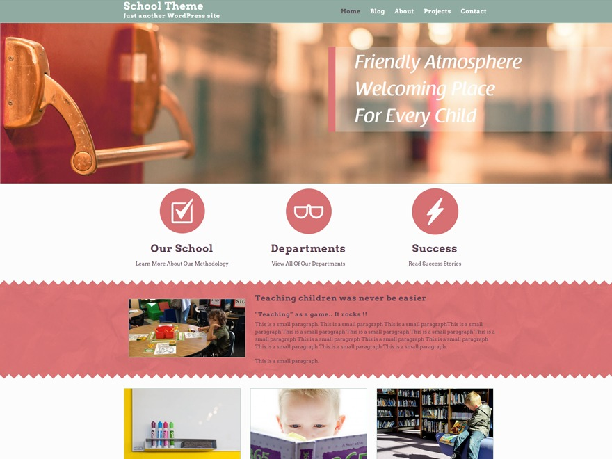 School WordPress theme free download