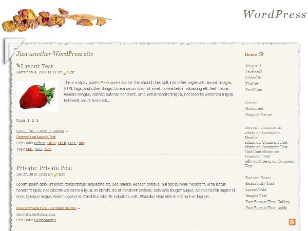 Scrapbook photography WordPress theme