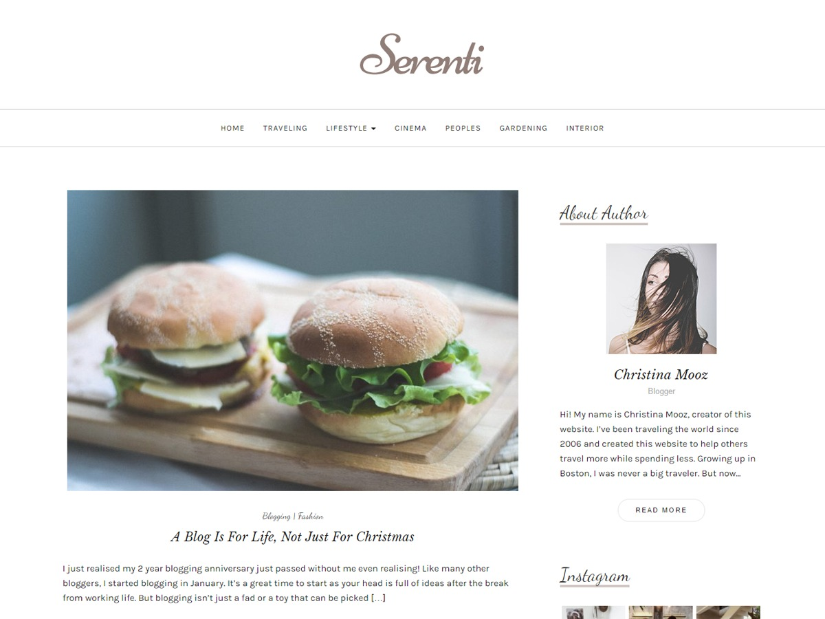 Serenti WordPress theme download