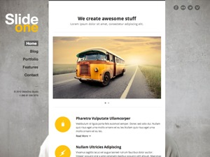 SlideOne WordPress theme