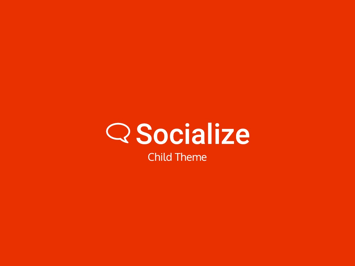 Socialize Child template WordPress
