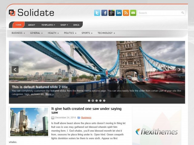 Solidate WordPress blog theme