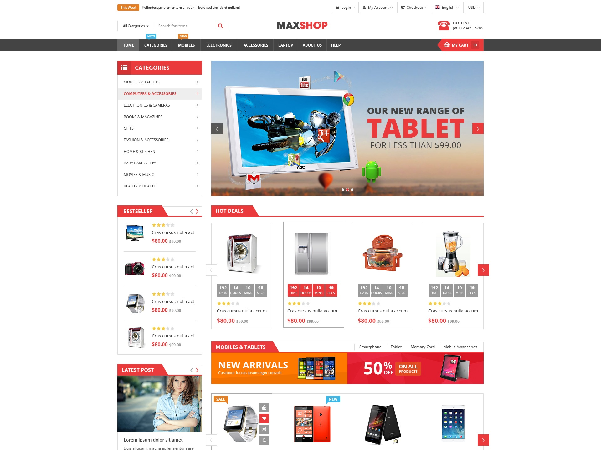SW Maxshop child WordPress ecommerce template