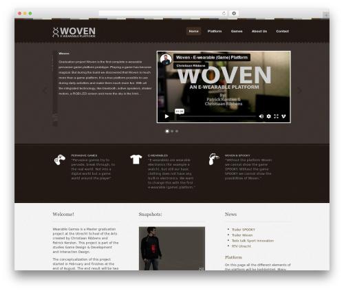 Swatch WordPress website template - wearablegames.eu
